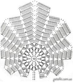 схема длинной вязаной юбки кленовые листья
