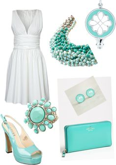 """Tiffany blue"" by roxannecoriell on Polyvore"