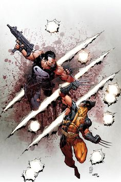 The Punisher vs. Wolverine by Marc Silvestri