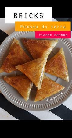 Bricks de pommes de terre à la viande hachée - By Hidaya Cake French Food, Beignets, Sandwiches, Food And Drink, Appetizers, Cooking Recipes, Snacks, Breakfast, Ethnic Recipes