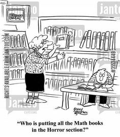 (and math humor. and librarian humor. Math Cartoons, Math Comics, Funny Cartoons, Cartoon Humor, Math Memes, Math Humor, Calculus Humor, Science Humor, Math Puns
