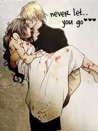 Jace and Clary A lot of people apply this to other books but this was actually a scene from the mortal instruments