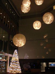 Modernist Christmas hotel lobby