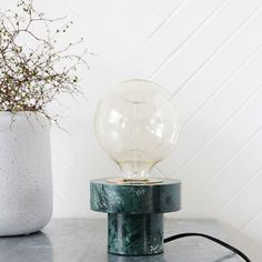 Lampe de bureau marbre vert
