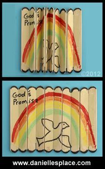 Books of the Bible Crafts and Games  - directions on www.daniellesplace.com - popsicle stick craft - craft stick craft
