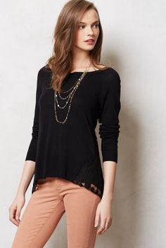 Lacey black top!
