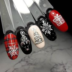 Xmas Nail Art, Christmas Nail Art Designs, Holiday Nail Art, Xmas Nails, Christmas Nails, Fancy Nails, Trendy Nails, Cute Nails, Diy Acrylic Nails