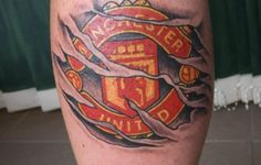 manchester united black tattoo