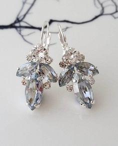 Dusty Blue Earrings,Light blue Earrings,Bridal Earrings,Bridesmaids gift,Blue earrings,Dusty blue wedding earrings,Swarovski Earrings