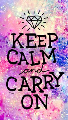 Keep Calm Galaxy Wallpaper