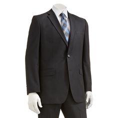 Men's Apt. 9® Extra-Slim Fit Striped Suit Jacket, Size: 38 Short, Black