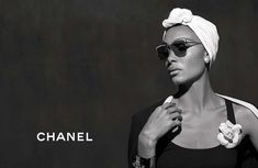 52c71428fa Adwoa Aboah models sunglasses in Chanel Eyewear s spring-summer 2018  campaign Chanel Spring