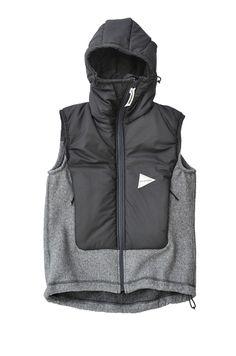 and wander-twill fleece vest