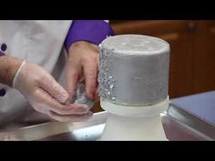 Using Edible Flakes on Cakes - Global Sugar Art Decorating Techniques - YouTube