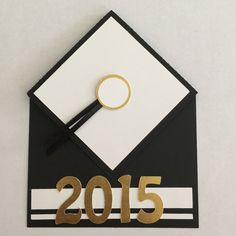 Black and White Graduation Pop Up Card by LoveDebbiesDesigns on Etsy