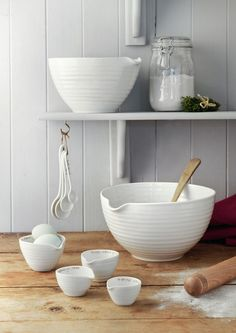 Mixing Bowl Set, Sophie Conran for Portmeirion Pottery Bowls, Ceramic Pottery, Home Decor Accessories, Kitchen Accessories, Sophie Conran, Kitchenware, Tableware, Serveware, American Kitchen