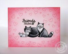Sunny Studio: Furever Friends Kitty Cat Card by Mendi Yoshikawa