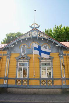 Vanha Rauma photo by Mikko Uusaari Window Trims, Something Old Something New, Small Towns, Old Town, Paint Colors, Wonderland, Europe, Houses, Windows