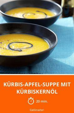 Kürbis-Apfel-Suppe mit Kürbiskernöl - smarter - Zeit: 20 Min. | eatsmarter.de