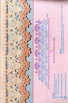 Crochet - Lace Edgings Border Trim