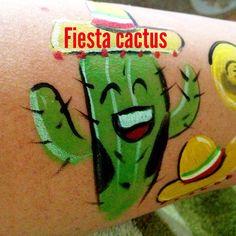 Fiesta Cactus face painting