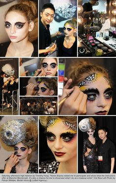 Blanche grad/makeup instructor Timothy Hung blowing away the IMATS crowd with his avant-garde makeup creations.