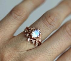 Beautiful vintage style moonstone engagement ring. Available with other gemstones per request. Sizes available: 3.5-8 (Larger and smaller sizes are available. Priced upon request) Please note needed size when checking out. Product info: diamonds, G, VS clarity 8x6mm high quality moonstone