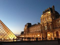 Louvre at sun down