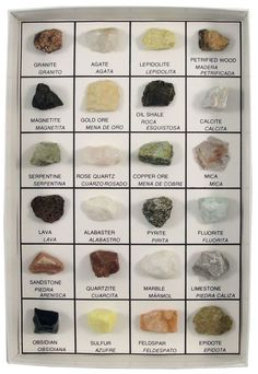 Free Picture Names Rock Minerals | Rocks and Minerals of U.S. Reference Collection (24 pcs.)