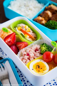 Chicken Meatball Bento 豆腐ハンバーグ弁当 | Easy Japanese Recipes at JustOneCookbook.com