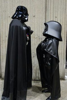 Darth Vader meets Dark Helmet - like you really needed the explanation. When Spaceballs and Star Wars meet. Anakin Vader, Darth Vader, Starwars, Dark Helmet, All Star, V Force, The Force Is Strong, Star Wars Humor, Cosplay Costumes