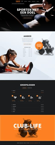 Sport Fitness Cardio User Interface Web Design Elegant