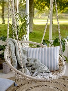 Cotton Hammock Chair in Natural