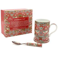 Check this out!! The Kitchen Gift Company have some great deals on Kitchen Gadgets & Gifts William Morris Strawberry Thief Mug, Coaster & Spoon Set #kitchengiftco