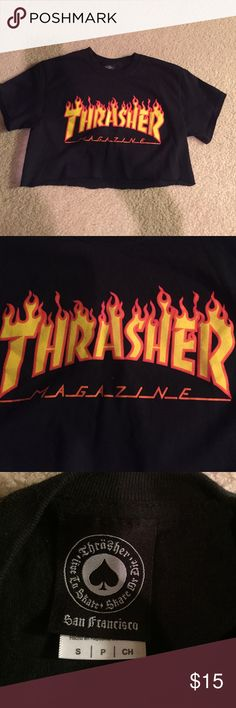 Thrasher crop tee Cute Thrasher crop tee Thrasher Tops Crop Tops