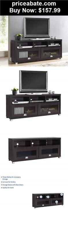 """Furniture: Espresso Media/TV Stand Storage Entertainment Center Home Theater 65"""" TV - BUY IT NOW ONLY $157.99"""