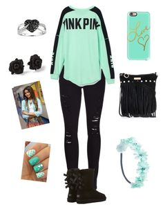 """"""""""" by queenlu on Polyvore featuring Frame Denim, Victoria's Secret PINK, UGG Australia, Ice, Marc by Marc Jacobs and Wet Seal"""