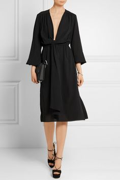 Michael Kors Collection | Wrap-effect silk-georgette dress | NET-A-PORTER.COM