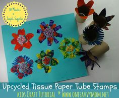 3 Fun Upcycled Recycled Cardboard Paper Towel & Tissue Paper Tube Kids Crafts - Perfect For Earth Day!