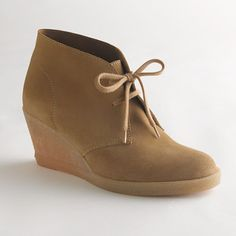 Factory suede lace-up wedge boots - shoes - Factory's Women - J.Crew