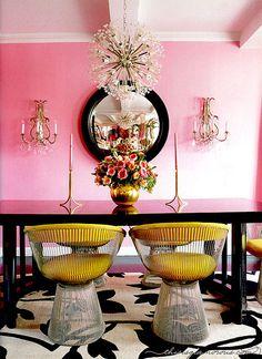 Betsey Johnson's NYC dining room.