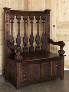 Rare Antique Louis XIV Hall Bench