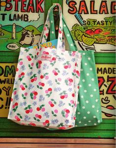 Two of my favorite Cath Kidston prints! Cath Kidston Shopping Bag, Cath Kidston Tote, Cath Kidston Vintage, Surface Pattern Design, Tote Purse, Kawaii, Hippie Boho, Sewing Projects, Shopping Bags