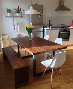 Esstisch aus Bohlen Holztisch