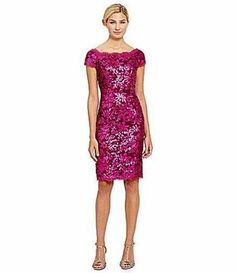 82.17$  Watch here - http://vishm.justgood.pw/vig/item.php?t=42iome243248 - 6 JS COLLECTIONS Pink Berry Black Sequined Lace Off Shoulder Sheath Dress NWT 82.17$