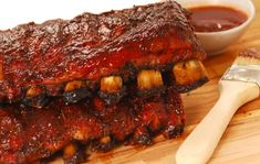 Spare ribs and barbecue marinade - Hauptgericht - Doughnut Recipes Slow Baked Ribs, Beef Ribs In Oven, Spare Ribs In Oven, Ribs Recipe Oven, Bbq Pork Ribs, Lamb Ribs, Smoker Ribs, Barbecued Ribs, Easy Homemade Barbecue Sauce Recipe