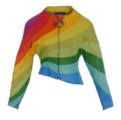 Wear it to toast the demise of DOMA. 1stdibs | S/S 1990 Thierry Mugler Iconic Leather Rainbow Jacket