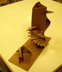 Corrugated Cardboard Sculpture Lesson | Art Lesson Plans (excellent!)