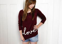 "T-Shirt mit ""love""-Schriftzug | DIY LOVE"