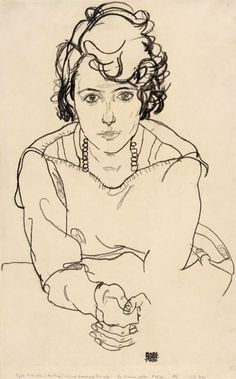Egon Schiele, Seated Woman, 1918